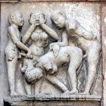 פיסול אירוטי בהודו, צפון הודו, מקדשי קג'וראהו