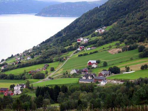 חופי Aurlandsfjord, נורבגיה