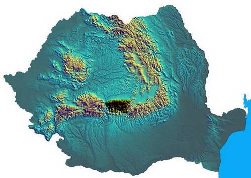 מפת רומניה