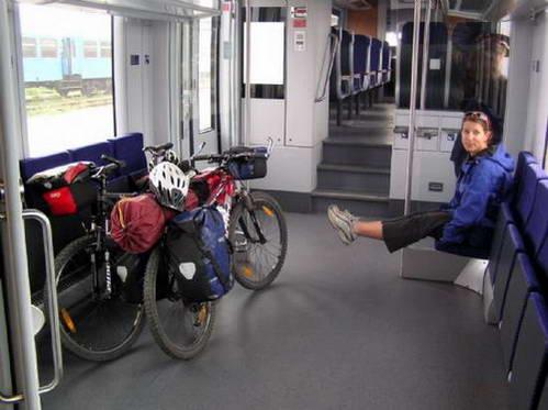 האופניים ברכבת (הנוחה יותר) בדרך הלוך