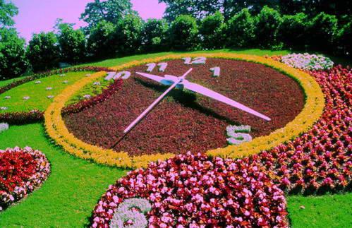 שעון הפרחים בגן האנגלי