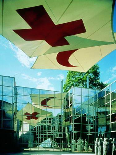הכניסה למוזיאון הצלב האדום