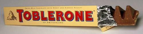 שוקולד טובלרון, הרבה