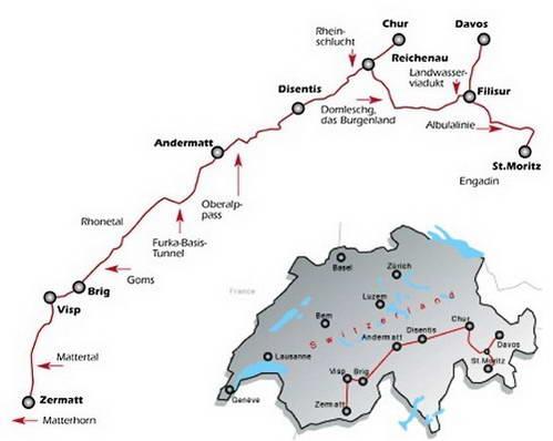 מסלול רכבת גליישר אקספרס