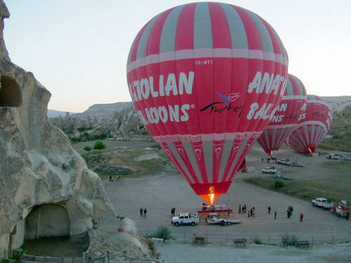 בבלון פורח מעל קפדוקיה, טורקיה