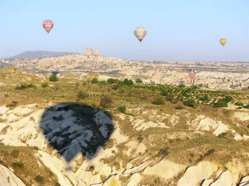 טורקיה, קפדוקיה, מצודת אוסיצ'אר, כדור פורח