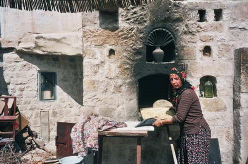 טורקיה, קפדוקיה, בתים חצובים בסלע הטוף