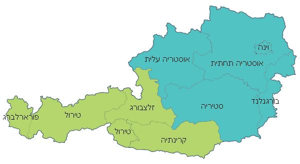 מפת מחוזות אוסטריה