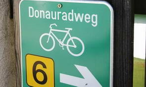 טיול אופניים לאורך הדנובה, סימוני השביל