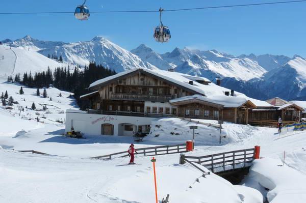 הגונדולה באתר הסקי סרפאוס-פיס-לאדיס, אוסטריה