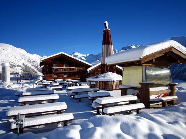 בקתת הרים בזולדן, אוסטריה