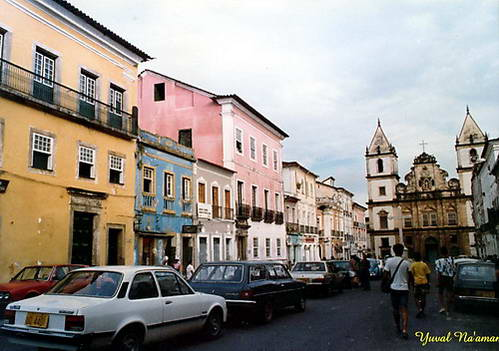 רחובות העיר וכנסייה בסלבדור, סלבדור דה באהייה, ברזיל
