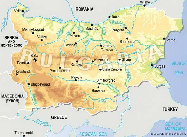 מה טופוגרפית של בולגריה