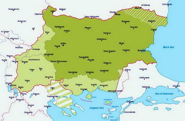מפת בולגריה בשואה