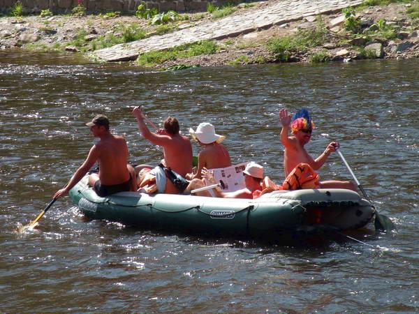 מסלולי רפטינג על נהר ולטאבה
