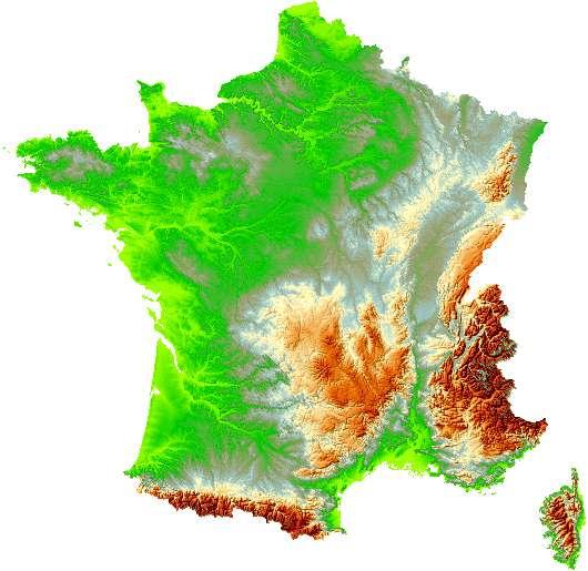 רכסי ההרים של צרפת: האלפים, מאסיף סנטרל והפירנאים
