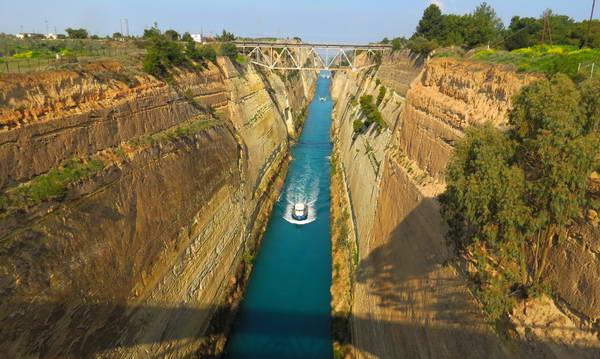 תעלת קורנתוס, פלופונס, יוון