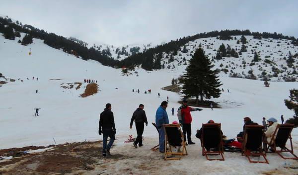 סקי, פלופונס, יוון