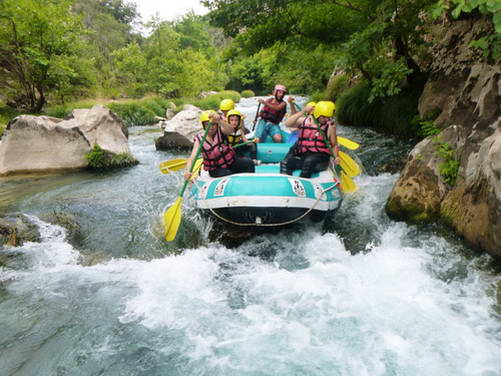 רפטינג, נהר לוסיוס, יוון
