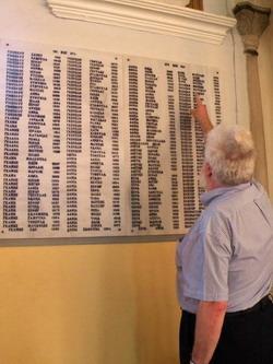 רשימת הנספים בשואה בבית הכנסת של יואנינה, יוון