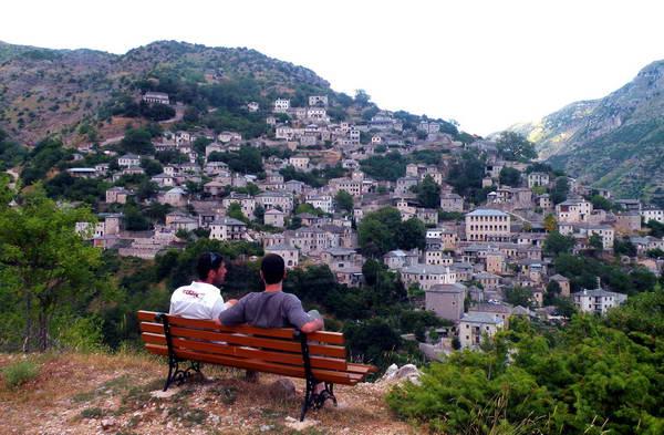 תצפית על הכפר סירקו, יוון