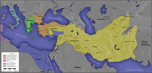 מפת האימפריה ההלניסטית