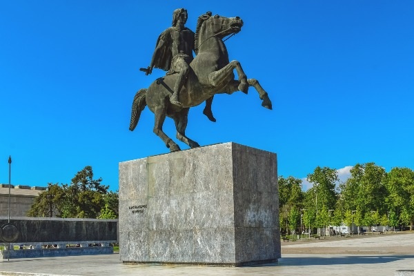 פסל אלכסנדר מוקדון, סלוניקי