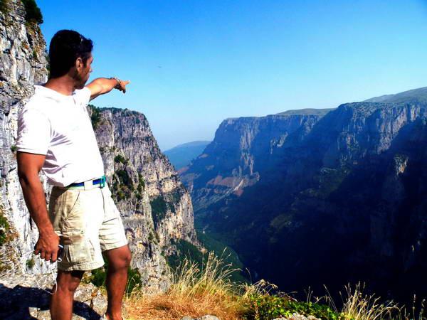 תצפית לקניון ויקוס, יוון