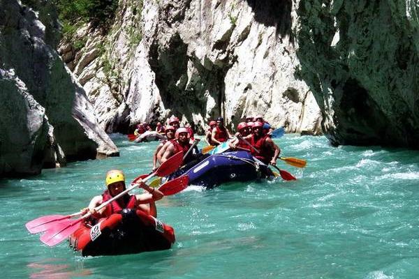 נהר אראחטוס, רפטינג, צפון יוון