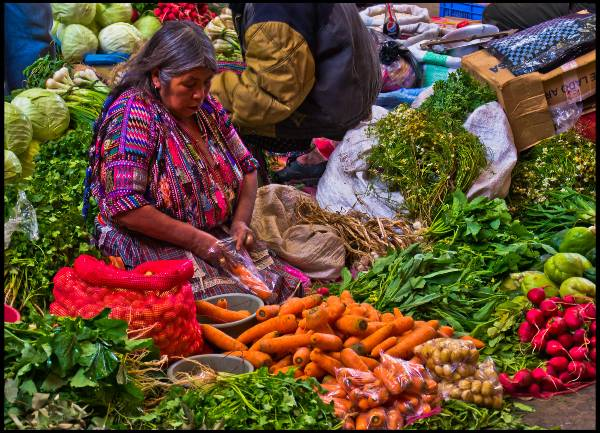 השוק של צ'יצ'יקסטננגו, גואטמלה