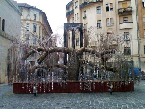 עץ החיים, אנדרטה בבית הכנסת בבודפשט