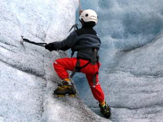 טיפוס קרח באיסלנד