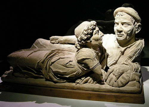 הנשואים, פסל על קבר אטרוסקי