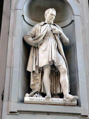 פסל מיכלאנג'לו במוזיאון אופיצי, פירנצה