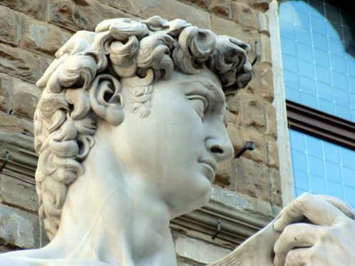 פסל דוד של מיכלאנג'לו בפירנצה