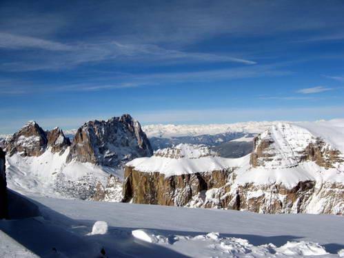 תצפית מפסגת סאס פורדוי, איטליה