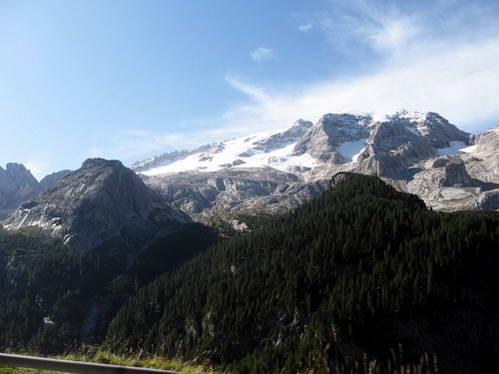 תצפית אל קרחוני המרמולדה, איטליה