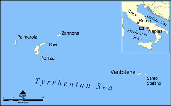 האיים הפונציאניים, איטליה