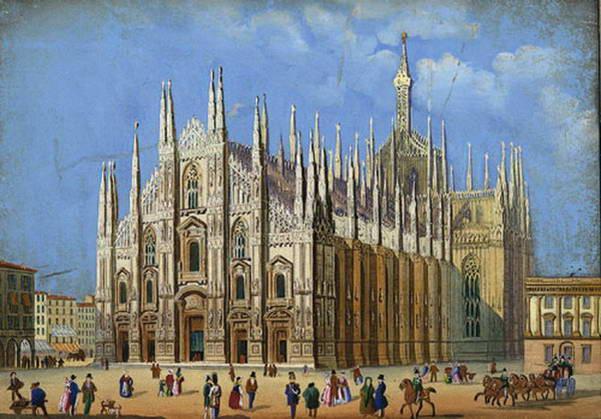 הקתדרלה של מילאנו וכיכר הדואומו,, 1856