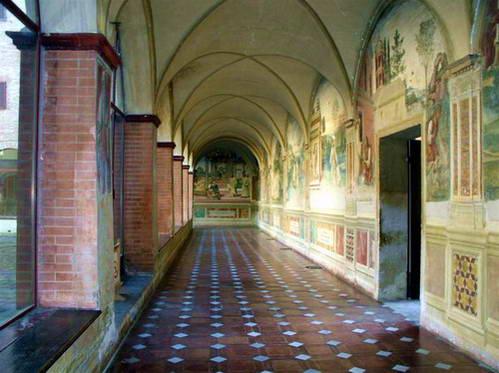 פרסקו במנזר מונטה אוליבטו מאג'ורה, טוסקנה