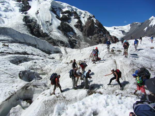 טרקים בקירגיסטן, קרחון אינילצ'ק