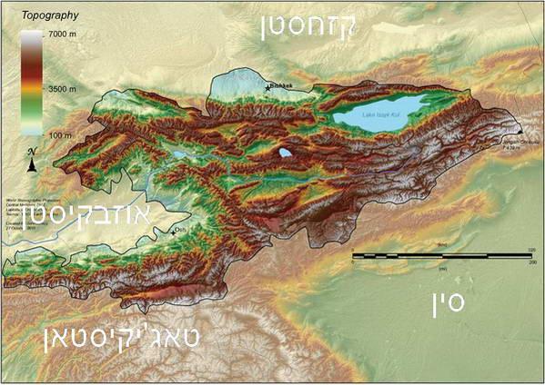מפת קירגיסטן