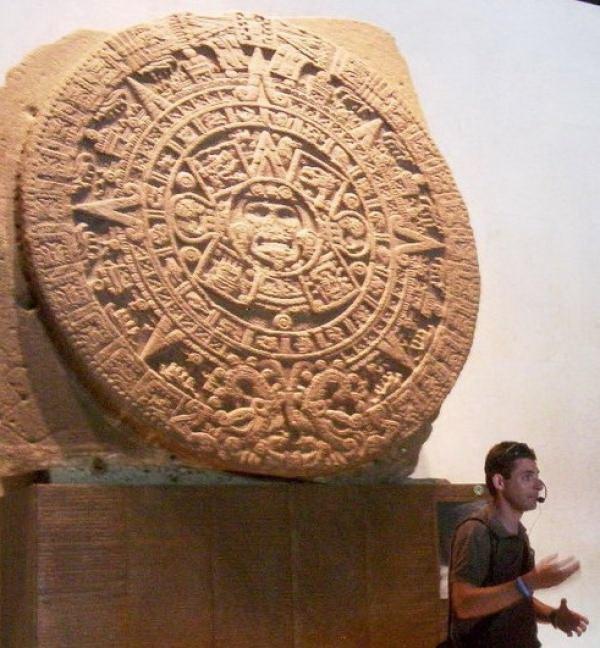 אבן השמש, מוצגת לראווה במוזיאון האנתרופולוגי במקסיקו סיטי
