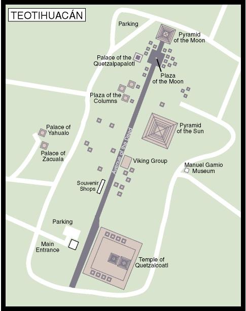 מפת הפירמידות טאוטיווקאן