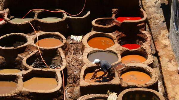 מרוקו, פאס, מעבדי העורות
