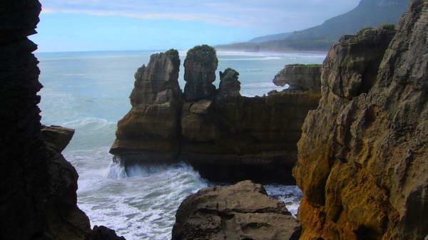 צוקי פונקייקי, החוף המערבי של ניו זילנד