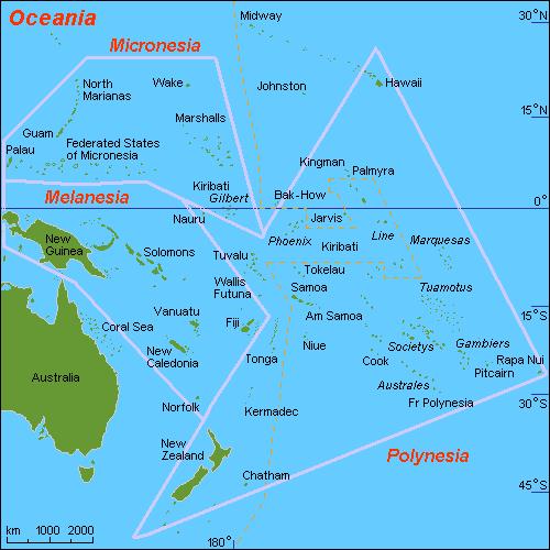 מפת אוקיאניה