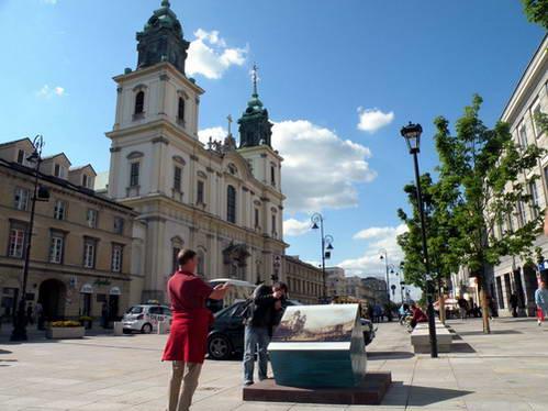 העיר העתיקה של ורשה ששוחזרה בדייקנות