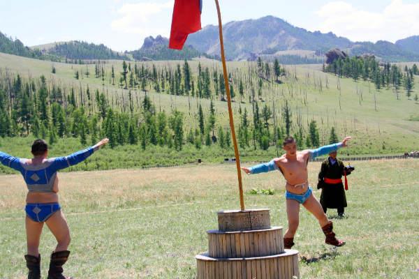 מונגוליה, קרב מסורתי
