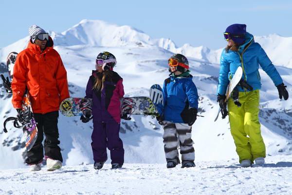 סקי עם ילדים בצרפת
